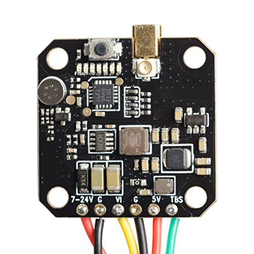 Wolfwhoop Q4-Pro 5.8GHz VTX with MMCX Antenna Connector and 0.01/25/200/400/600mW 37CH Switchable FPV Transmitter with Smart Audio Support OSD Configuring via Betaflight Flight Controller (Q4-Pro)