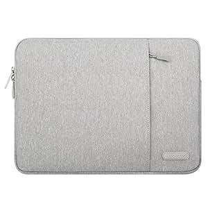 Mosiso Funda Protectora Compatible 14-15 Pulgadas 2018 2017 2016 MacBook Pro A1990 A1707/Dell Lenovo HP Chromebook/Ultrabook/Notebook, Repelente de Agua de Bolsa de Estilo Vertical, Gris