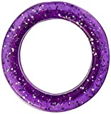 Heritage Rubber Thumb Rings for Grooming Shears, Purple Sparkle