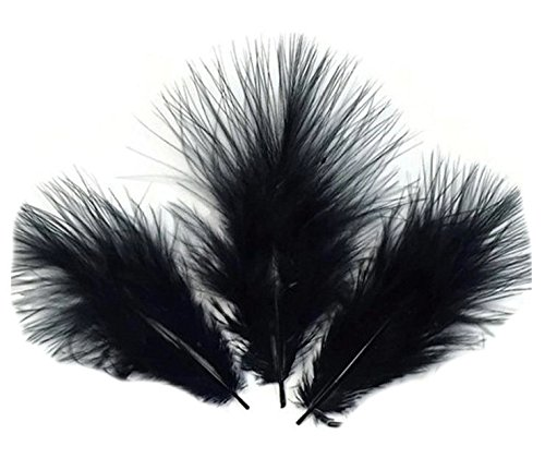 Pk 30 Marabou Feathers in Black by GC
