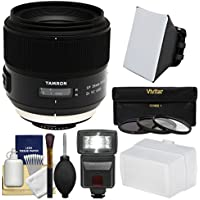 Tamron SP 35mm f/1.8 Di VC USD Lens with 3 UV/CPL/ND8 Filters + Flash + Soft Box + Bounce Diffuser Kit for Nikon Digital SLR Cameras