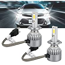 H7 LED Headlights, EEEKit H7 Car LED Headlight Bulbs Conversion Kits Bright COB Flip Chips Adjustable High/Low Beam 72W 7600LM 6000K Driving Fog Light Bulbs