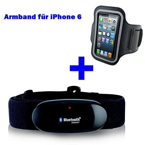 BLUETOOTH sul petto tracolla 4,0 + bracciale per iPhone 6/6S per RUNTASTIC, App RUNTASTIC PRO GO-SHOPPING24