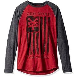 Zoo York Men's Zunited Long Sleeve Raglan, Biking Red, Large