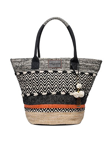 Replay Women's Women's Black-Off White Beach Bag Multicolour by Replay