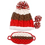 Outdoor Winter Warm Knit Ski Cap Skateboard Hat Earmuffs Beanies with Mask