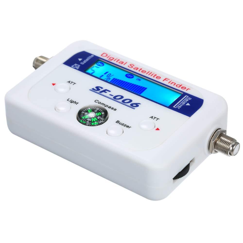 Buscador satelital,Baugger Buscador digital de sat/élite Medidor de se/ñal satelital con pantalla LCD con br/újula