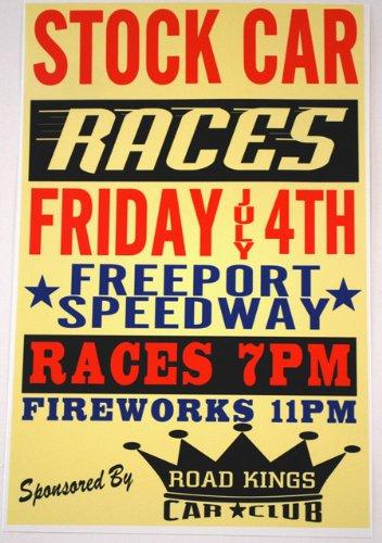 Motown Automotive Design Stock Car Races Poster 11 x 17 ()