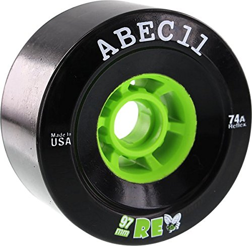 ABEC 11 REFLY 97mm 74a Black/Lime Wheels Set for sale  Delivered anywhere in USA