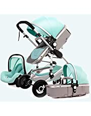 3 in 1 Pushchair Stroller Baby Stroller Pram Carriage Stroller,Travel System Baby, Compact Convertible Luxury Strollers