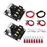 Luckkyme 3D Printer Heat Bed High Power Module Heat Bed Mos Tube Power Expansion Current Load Module (2 Pack)