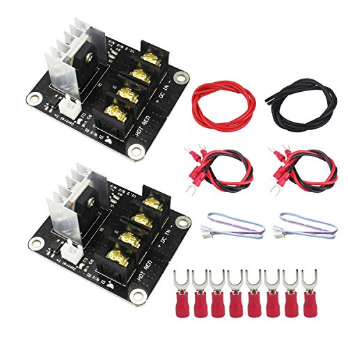 3D Printer Heat Bed Power Module, WeiMeet General Add-on Hot Bed Mosfet MOS Tube High Current Load Module Upgrade RAMPS 1.4 for 3D Printer Hot Bed/Hot End(2 Pack) by WeiMeet