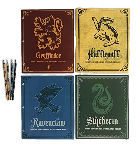 Harry Potter School Supplies Bundle - 4 Folders Representing Four Hogwarts Houses and 4 Pencils (8 pcs) by Innovative Designs (Image #6)