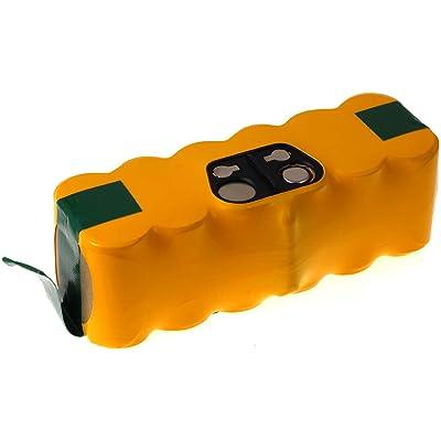 batterie compatible pour iRobot Roomba 500 série 4500mAh, NiMH, 14,4V, 65Wh, jaune