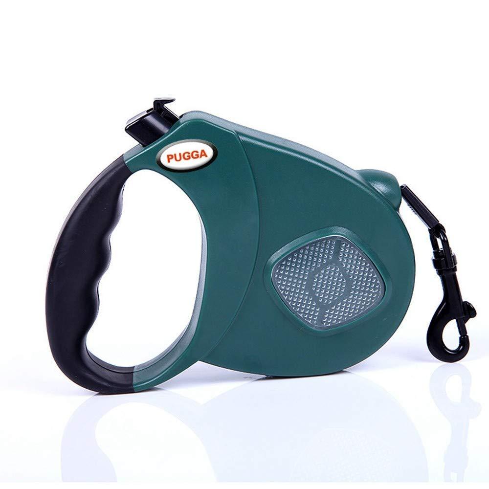 Green M-3m-flat belt Green M-3m-flat belt IANXI Home Retractable Dog Leash Dog Leash Reflective Dog Leash Safety Flexi Traction Puppy,Black,L-5M-Flat Belt (color   Green, Size   M-3m-flat Belt)