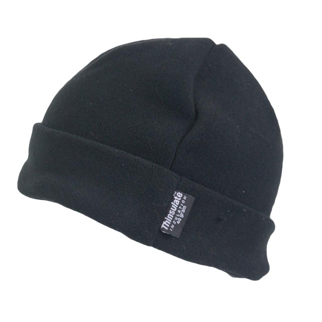 1d805d44d8353 Mens Outdoor Turn Up Extra Warm Thinsulate Lined Winter Fleece Beanie Ski  Hat Fishing Walking Hiking Hat Black One Size  Amazon.co.uk  Clothing