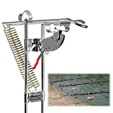 Master Fish Detector Rod Holder Double Spring Fishing Rod Holder Rack with Automatic Tip-Up Hook Setter