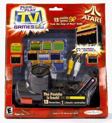 Atari Paddle TV Game 13 In 1 , Breakout,Night Driver,Po