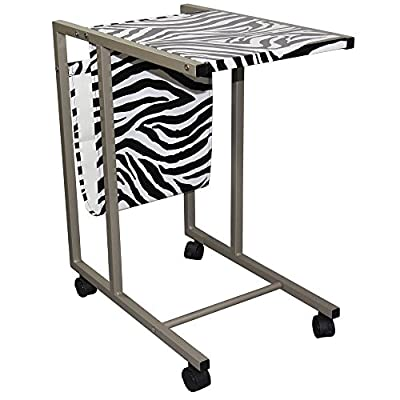 ORE International Zebra Laptop Cart