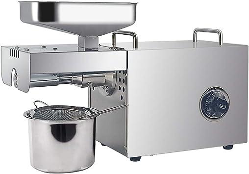 Dulong máquina de prensa automática de aceite extractor eléctrico de aceite caliente fría presión con control de temperatura 304 acero inoxidable presión de aceite para semillas de semillas de girasol sésamo frijoles