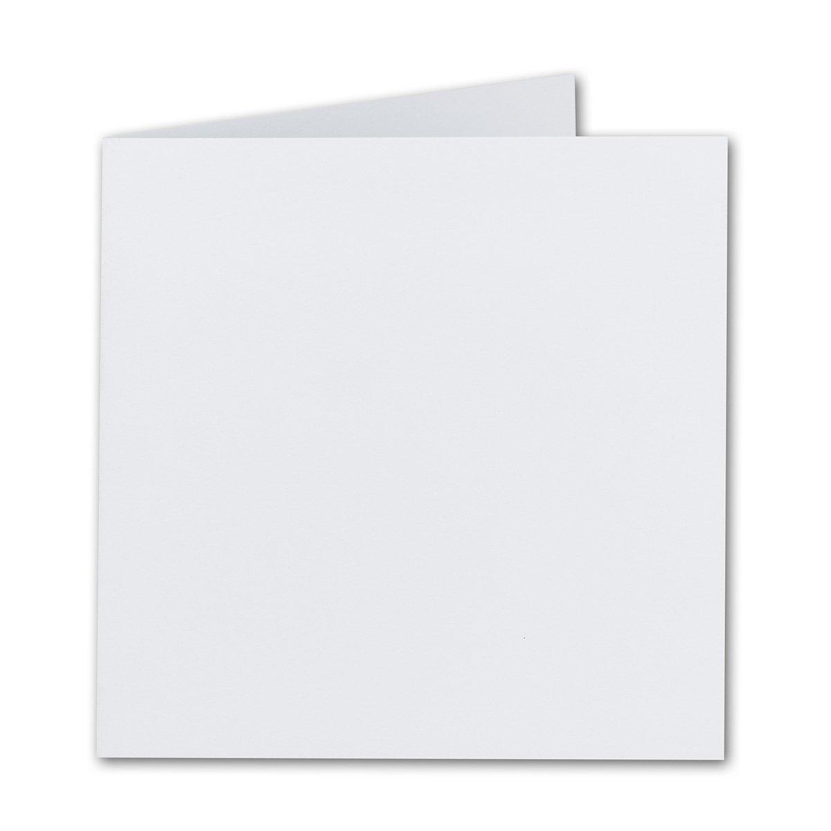 Quadratische Falt-Karten 15 x 15 cm     Gold Metallic   100 Stück   formstabil   für Drucker geeignet   für Grußkarten, Einladungen & mehr   Qualitätsmarke  FarbenFroh® von Gustav NEUSER® B07D3B7FR1   Trendy  290572