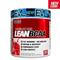 Evlution Nutrition LeanBCAA, BCAA's, CLA and L-Carnitine, Stimulant-Free, Recover and Burn Fat, Sugar and Gluten Free (Fruit Punch, 30 Servings)