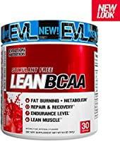 Evlution Nutrition LeanBCAA, BCAA's, CLA and L-Carnitine, Stimulant-Free, Recover and Burn Fat, Sugar and Gluten Free...