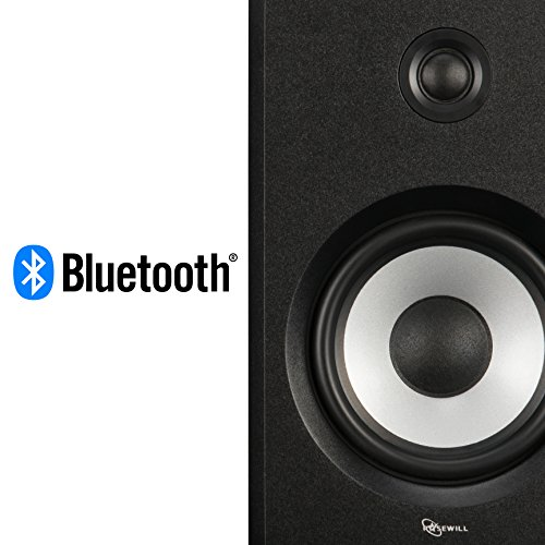 ROSEWILL Bluetooth Computer Speaker System for Laptop, Smartphone, Tablet and Multiple Devices. 2.0 Active Near Field Monitor, Studio Monitor Speaker, Wooden Enclosure. Best Wireless Bookshelf Speaker by Rosewill (Image #4)