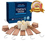 Moth Cedar Wood Combo Pack - Cedar Hang ups, blocks, balls and pouches Light Fresh Scent (61 Piece)