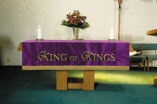 Christian Brands Church Supply VC740 Custom Altar Frontal - Purple by Christian Brands Church Supply