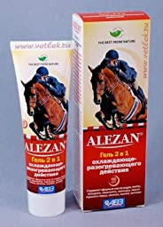 Cooling and Warming Body and Joints Gel with Essential Oils for neuritis, sciatica, bruises, sprains 100 ml (Alezan)
