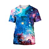 SEVENWELL Unisex 3D Realistic Graffiti Print Hip Hop Style Tee T-Shirt M Galaxy 3