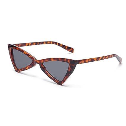 8309cf996f QZ HOME Gafas De Sol Triangular Vintage Estilo Harajuku De Moda Borde  Transparente Protección UV Espejo