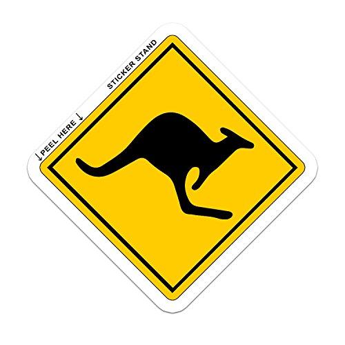 WARNING Kangaroo Zone Australia bumper sticker 4