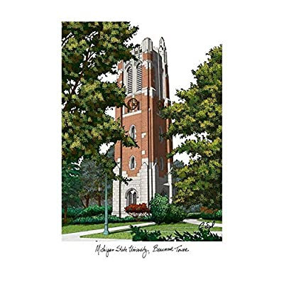 Campus Images Michigan State University, Beaumont Hall Campus Images Lithograph Print
