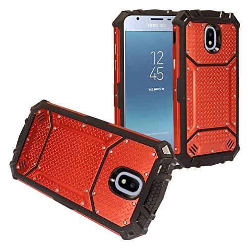 - Z-GEN - Galaxy J3 2018 J3 Star/Achieve/Aura/Orbit, Sol3, Express Prime 3, Amp Prime 3, J3 V J3V 3rd Gen - Aluminum Metal Hybrid Phone Case for Samsung J337 - ZY0 Red