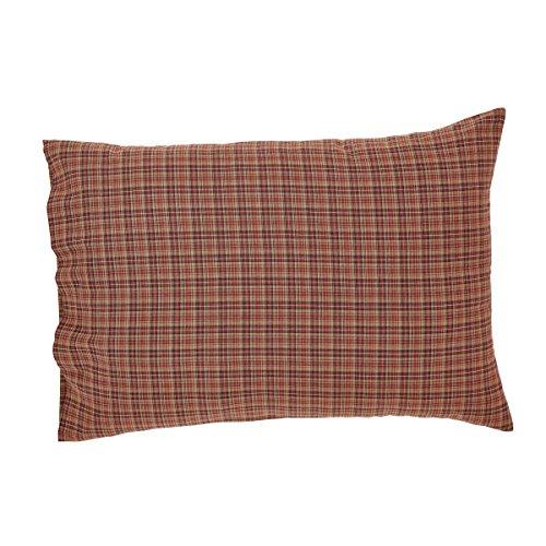 VHC Brands Parker Standard Plaid Cotton Pillowcase Set of 2, 21x30 (Plaid Pillowcase Standard)