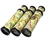 SPADORIVE 3 Pack Magic Kaleidoscope Toy for Kids Adults 3D Mirror Lens Kaleidoscope Party Favors Stretchable Long Classic Kaleidoscope Toy Educational Science Developmental Toy (Orange)