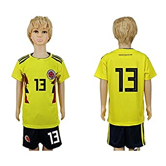 6254b469c4f 2018 Russia Word Cup Columbia National Football Team #13 Kids Home Yellow  Soccer Jersey -