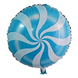 Lanlan 1PCS 18 Inch Foil Balloons Round Candy Lollipop Valentines Wedding Anniversary Party Favor Decoration Photography Props Activities Amusements Play Balls Game Toys Repeatable Use Blue Reviews