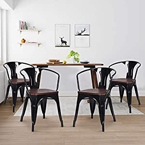 Sillas de comedor, WaterJoy, juego de 4 sillas de madera ...
