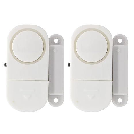 2 piezas Alarma del sensor inalámbrico Anti-robo de las ...