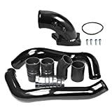#3: Ford Powerstroke 6.0L Gloss Black Intercooler Charge Pipe Kit and Intake Elbow