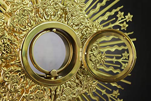 Rare Fine Large Monstrance with Lunette Beautiful and Affordable! 37'' High X67&B by Generic (Image #2)