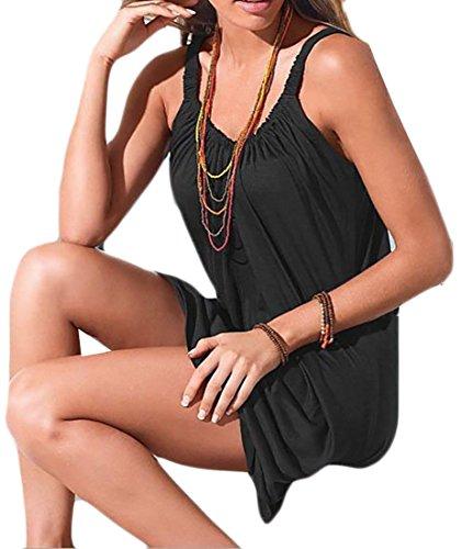 Color T Baggy Black Size Shirts Plus Mini Dress Women Coolred Mulit Slip p6xaa4