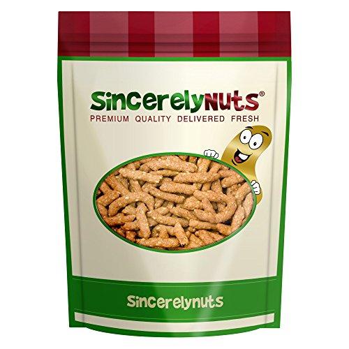 Sincerely Nuts Sesame Sticks - One Lb. Bag - Fiber Rich - Appetizing Golden Color - Delicious & Insanely Fresh – OK Kosher Certified! (Organic Salted Sticks)