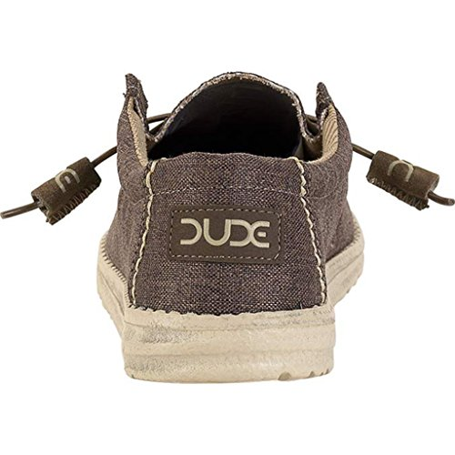 Dude Shoes Men's Wally Linen Chocolate UK12 / EU46