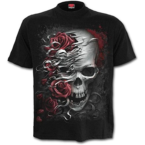 Spiral - SKULLS N ROSES - Men's Black Short Sleeve T-Shirt (Large)