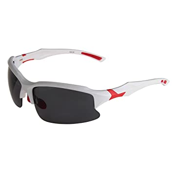 Bang Long UV400 Gafas polarizadas de sol deporte para running ciclismo con lentes anti-vaho/anti-rayas para ciclismo esquí golfo pescar (blanco+rojo): ...