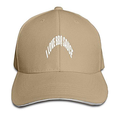 I Love BBQ Sauce Running Unisex Peaked Cap Baseball Hat Natu